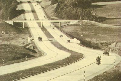 Autopista Bayreuth-Nüremberg (Alemania). 1937.