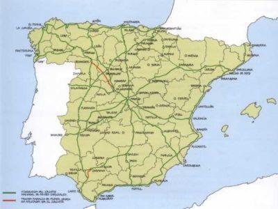 Itinerario del Circuito Nacional de Firmes Especiales tal y como se contempla  en un nuevo Real Decreto de 1929.