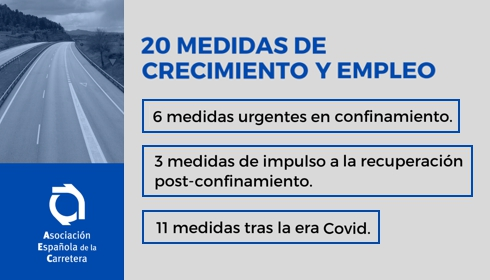The Spanish Highway sector transfers to the Government 20 measures to recover growth and activate employment