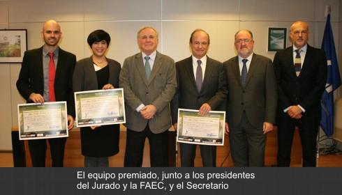 Eine Studie zur Erhöhung der Sicherheit in den Abschnitten der üblichen Routen, Auszeichnung für Innovation in Autobahn Juan Antonio Fernández del Campo Überholmanöver